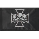 CROSS SKULL Nylon Wallet