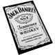 JACK DANIEL'S Tennessee Whiskey White Ξύλινο Μαγνητάκι Ψυγείου