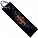 HARLEY DAVIDSON Logo Patch Embroidered Μotorbike Keyring
