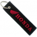 HONDA Red Logo Patch Embroidered Μotorbike Keyring