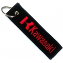 KAWASAKI Red Logo Patch Embroidered Μotorbike Keyring
