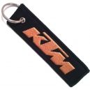 KTM Orange Logo Patch Embroidered Μotorbike Keyring