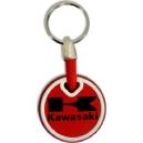 KAWASAKI Red Logo 3D Rubber Μotorbike Keyring