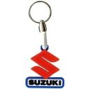 SUZUKI Red S Logo 3D Rubber Μπρελόκ Μοτοσυκλέτας