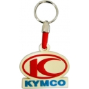 KYMCO Red Blue Logo 3D Rubber Μotorbike Keyring