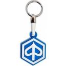 PIAGGIO White Blue Logo 3D Rubber Μotorbike Keyring