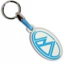 MODENAS White Blue Logo 3D Rubber Μotorbike Keyring