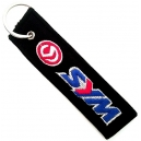 SYM Blue Red Logo Patch Embroidered Μotorbike Keyring