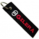 GILERA Patch Embroidered Μotorbike Keyring