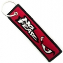 NO FEAR Eyes Red Patch Embroidered Μotorbike Keyring