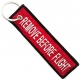 REMOVE BEFORE FLIGHT Red Patch Ραφτό Μπρελόκ Μοτοσυκλέτας