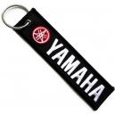 YAMAHA Red White Logo Patch Embroidered Μotorbike Keyring