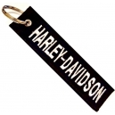HARLEY DAVIDSON White Logo Patch Embroidered Μotorbike Keyring