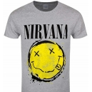 NIRVANA Smiley Grey Official T-Shirt