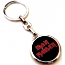 IRON MAIDEN Red Logo Double Sided Keyring