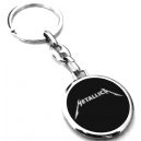 METALLICA White Logo Double Sided Keyring