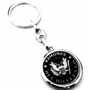 RAMONES Seal Hey Ho Let's Go Double Sided Keyring
