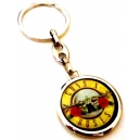 GUNS' N 'ROSES Round Logo Double Sided Keyring