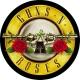 GUNS' N 'ROSES Round Logo Μπρελόκ Διπλής Όψης