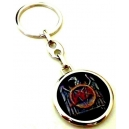 SLAYER Eagle Logo Double Sided Keyring