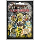 IRON MAIDEN Early Albums 5pcs Set Official Button Badges