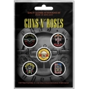GUNS N 'ROSES Bullet Logo 5pcs Set Official Kονκάρδες
