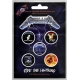 METALLICA Ride The Lightning 5pcs Set Official Kονκάρδες
