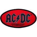 AC/DC Oval Logo Ραφτό Σήμα