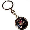 RUNNING WILD Pirate Bones Logo Double Sided Keyring