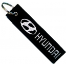 HYUNDAI Patch Embroidered Car Keyring