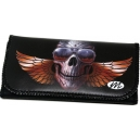 SKULL Wings & Glasses Tobacco Pouch