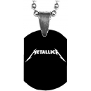 METALLICA White Logo Mini Tag Λαιμού