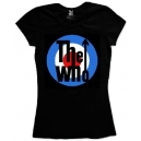 THE WHO Ladies Target Logo Official T-Shirt