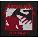 METALLICA Kill 'Em All Ραφτό Σήμα