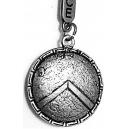 ANCIENT GREECE Spartan Warrior Silver Shield Μπρελόκ