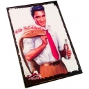 ELVIS PRESLEY Coca Cola Ξύλινο Μαγνητάκι Ψυγείου