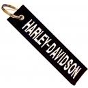 HARLEY DAVIDSON White Logo Patch Ραφτό Μπρελόκ Μοτοσυκλέτας