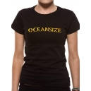 OCEANSIZE Ladies Gold Foil Logo Official T-Shirt