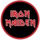 IRON MAIDEN Red Logo Μπρελόκ Διπλής Όψης