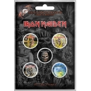 IRON MAIDEN The Faces Of Eddie 5pcs Set Official Kονκάρδες