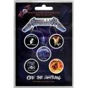 METALLICA Ride The Lightning 5pcs Set Official Kονκάρδες