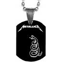 METALLICA Black Album Snake Mini Tag Λαιμού
