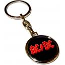 AC/DC Red Logo Μπρελόκ Διπλής Όψης
